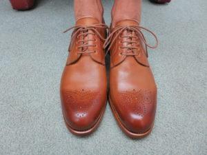 Perfekt sitzende Schnürung bei neu gekauften Schuhen.